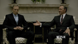 Lars Mikkelsen og Kevin Spacey, House of Cards, Netflix