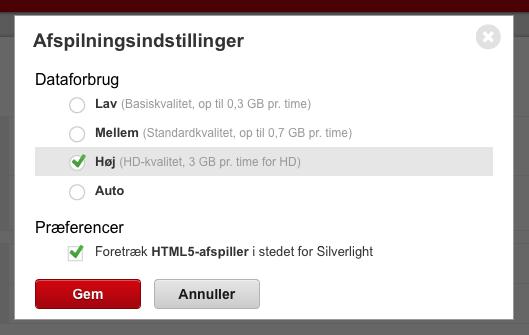 netflix html5 afspiller dk