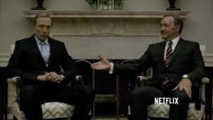 Lars Mikkelsen og Kevin Spacey, House of Cards, Netflix