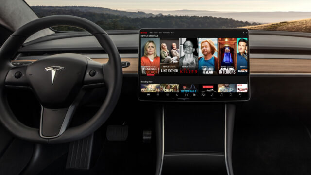 tesla netflix streaming