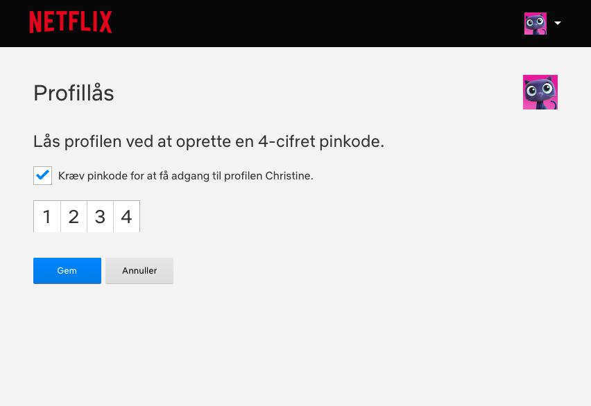 Netflix kode danmark