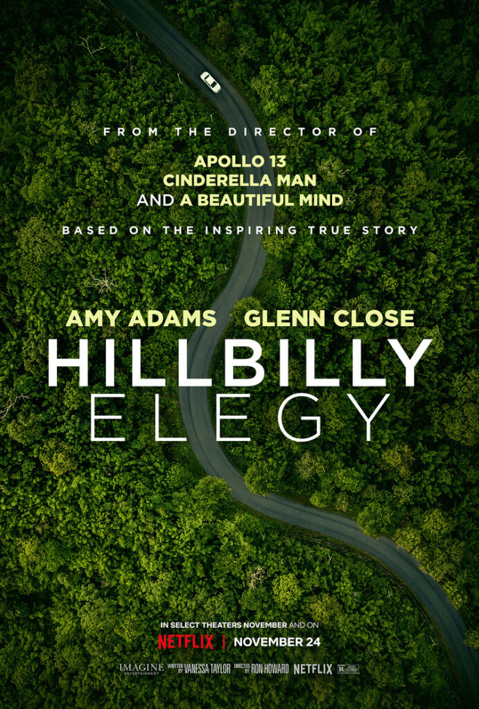 Hillbilly Elegy Melodramatisk storfilm med Amy Adams og Glenn Close